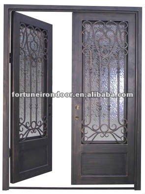 Superior cuadrada lowes de hierro forjado puertas de - Puertas de hierro para exteriores ...