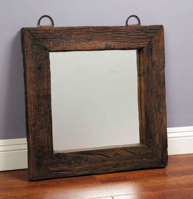 Jahrgang suqare holz spiegelrahmen kunst spiegel produkt for Espejos de pared madera