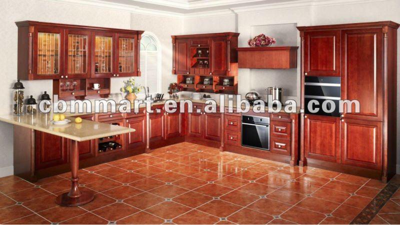 Classique conception d 39 armoires de cuisine style simple meubles de cuisin - Modele de cuisine simple ...