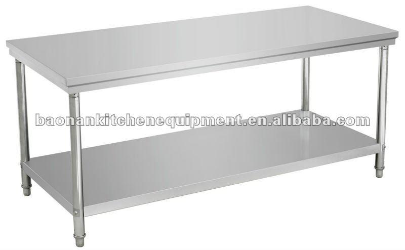 El restaurante de acero inoxidable mesa de trabajo metal for Mesa apoyo cocina