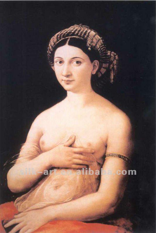 Famosa Pintura A Leo De Mulheres Nuas Seda Imita O Alta
