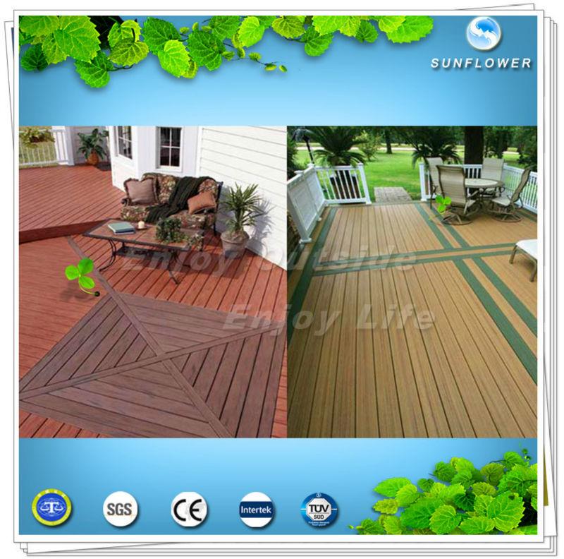 Zhejiang new cheap composite wpc planche de terrasse for Planche de terrasse composite