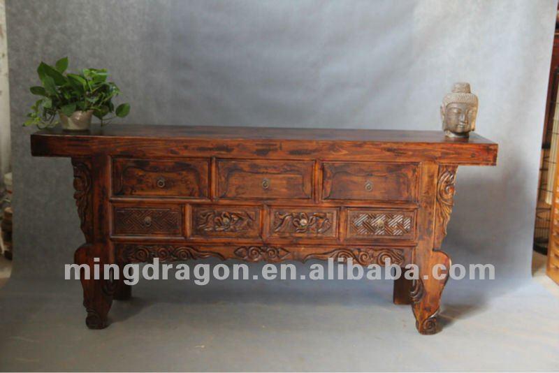 Cinese pino mobili antichiin legno di riciclo shanxiin legno naturale color sette alter cassetto - Mobili in pino naturale ...