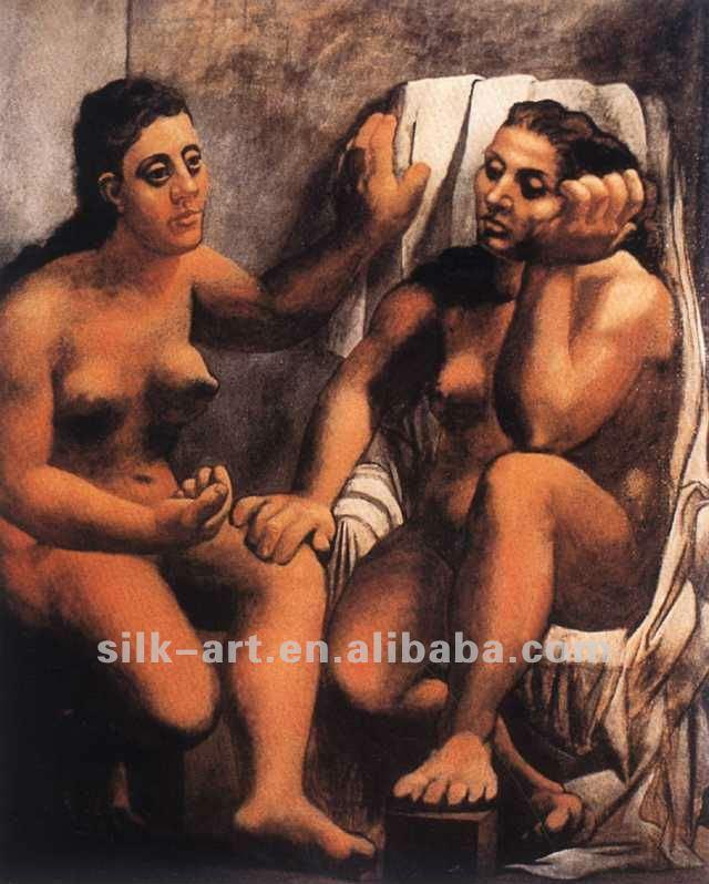 Mulheres Nuas Pintura A Leo De Picasso Em Seda E
