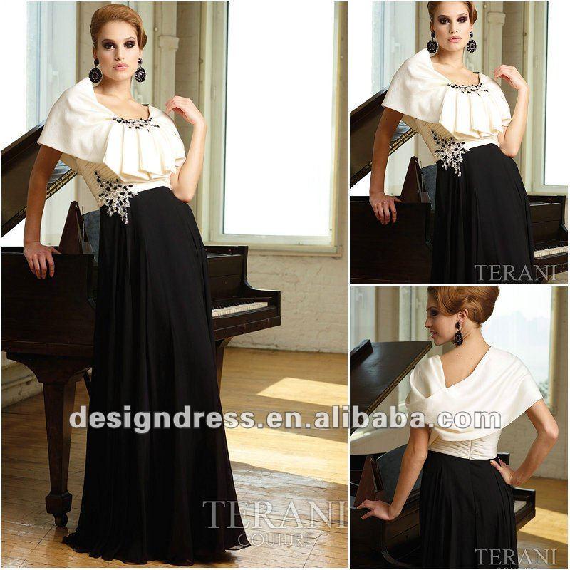 robe de mariée en blanc et noir 2013