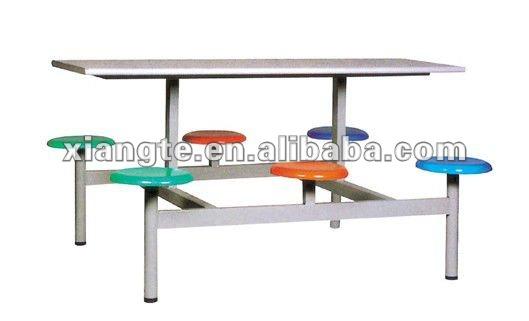 P blica mesa de comedor para seis personas metal de la for Mesas comedor colegio