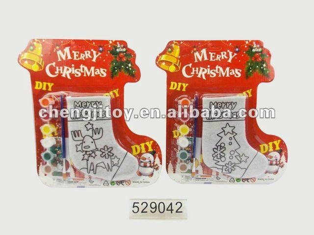 diy детей рисовать рождество носок. По Chengji Toys & Gifts Co., Ltd.