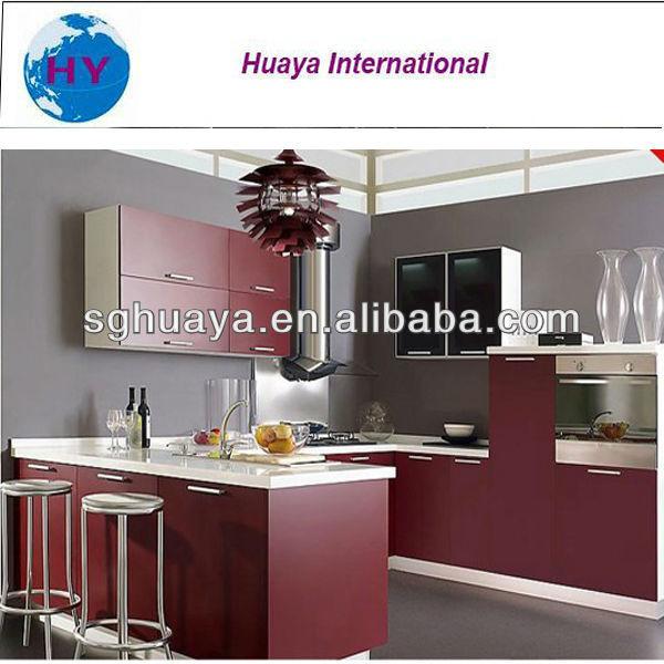de gabinete de cocina de color rojo vino de color de la puerta de
