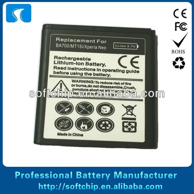 El mejor batería del teléfono celular para ba700/xperia neo/mt15i ...