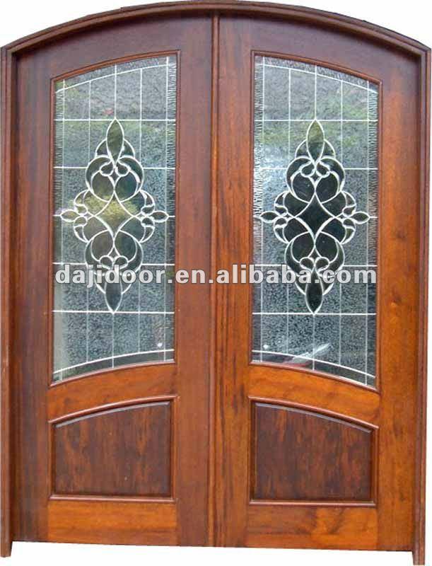 De madera de doble exterior franc s puertas modelo dj for Puertas dobles para exterior