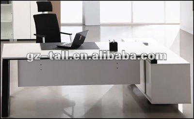 De estilo italiano moderno blanco mesa de oficina muebles for Muebles de oficina italianos