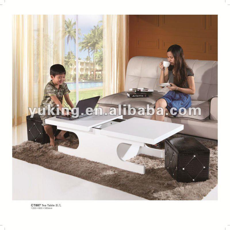 2012 мода мульти funtion журнальный столик с 2 место