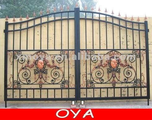 Main Gate Design  Home on Baratos De Deslizamiento De Hierro Forjado Modernas Principal Puerta