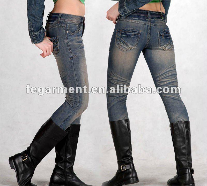 Botas Para Mujer Pantalones Vaqueros De Mezclilla Pantalones