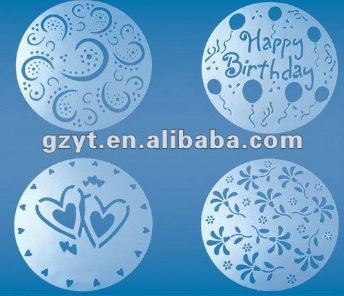 Трафарет на торт с днем рождения