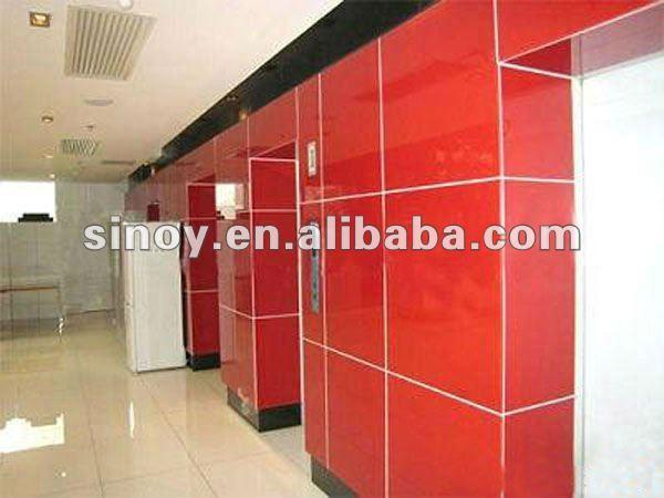 Baño Pintado De Rojo:decorativos de color rojo pintado de cuarto de baño de la pared de