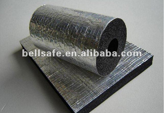 elastomérico lámina de aislamiento térmico con papel de aluminio