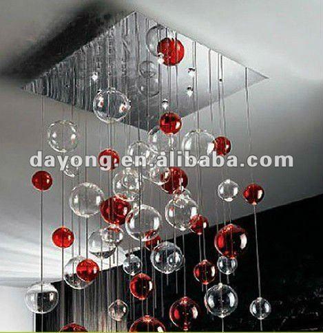 Guzhen moderna bolla di vetro luci lampadari per soggiorno apparecchio ...