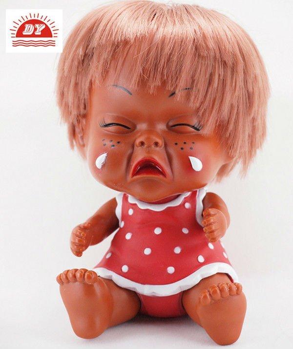 3d diseño personalizado de plástico niña llorando muñecas-Muñecas ...