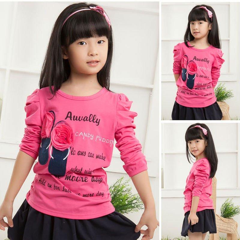 Blusas de manga larga para chica de moda blusas 2013, el soporte de