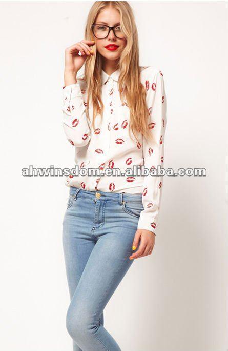 Camisas Blusas Modernas Manera Las Seoras Spanish Pictures