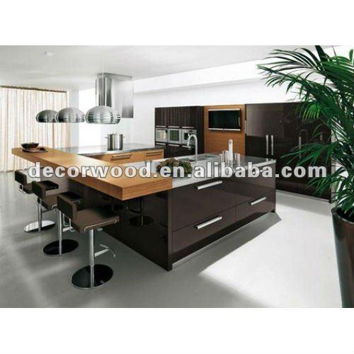 Mdf noir brillant moderne conception d 39 armoires de for Cuisine moderne mdf