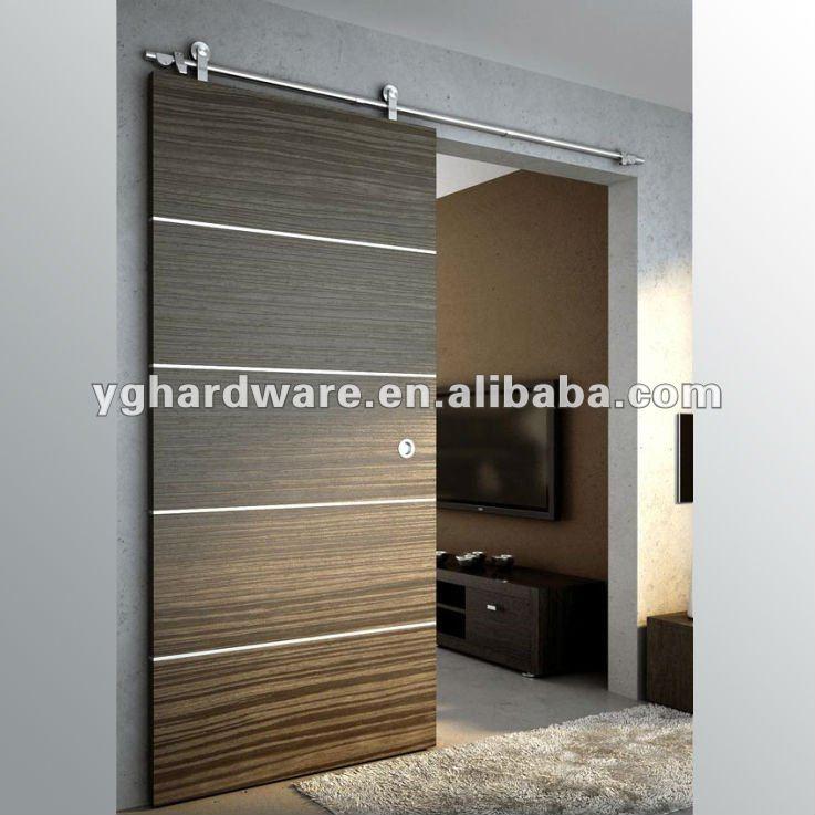De madera de puertas correderas yg w004 puertas for Puerta corrediza madera
