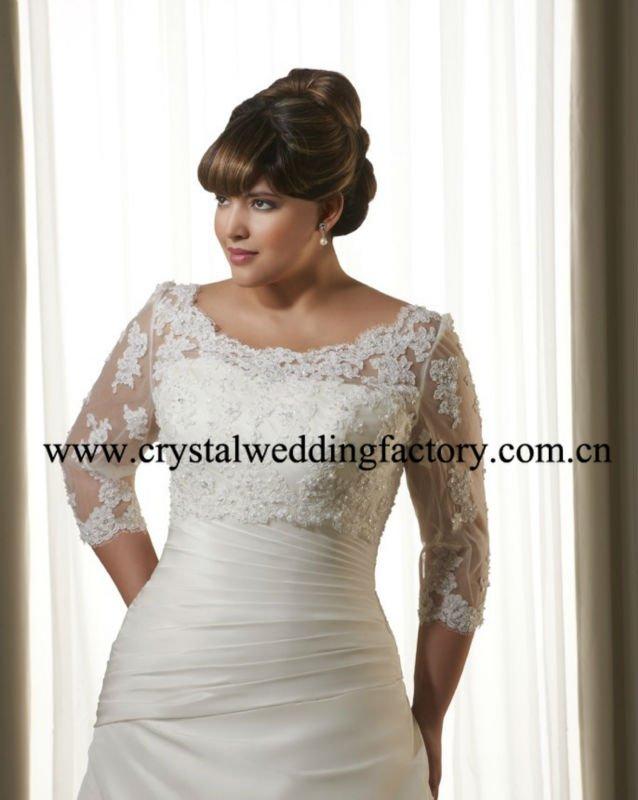 long dresses xxl fashions dresses Wedding Gown Xxl long_sleeve_beaded_ruched_appliqued_xl_xxl_xxl_xxl_custom_made_plus_size_wedding_dress_cwfaw4738 wedding gown lace