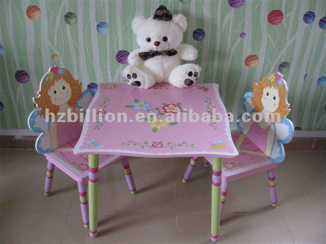 3 12 a os de madera mesa de estudio los ni os con sillas for Mesas estudio ninos