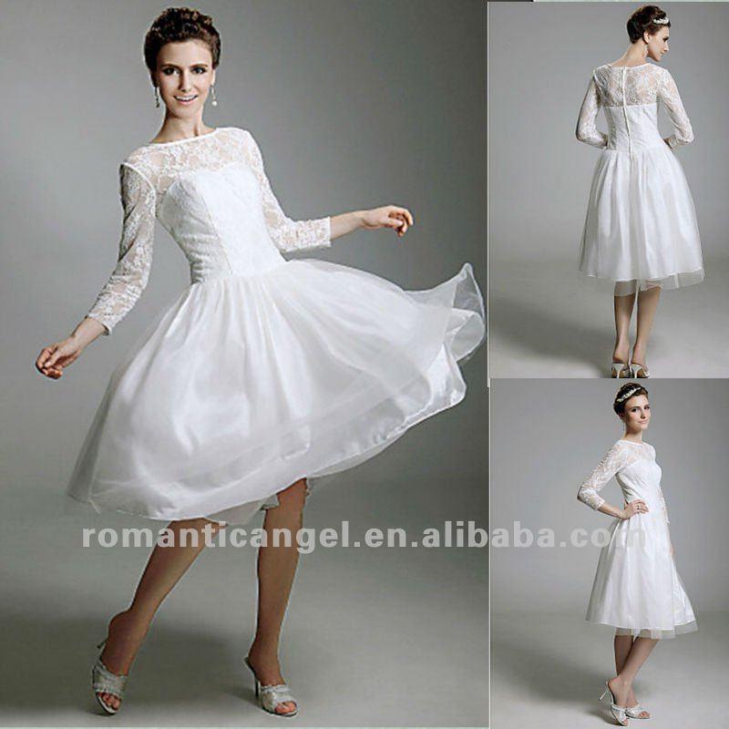 Wedding Saloon :: свадебное платье короткое с рукавами - Свадебные