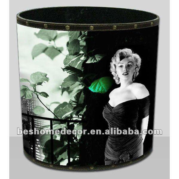 Marilyn monroe d coration articles poubelle poubelle - Meuble marilyn monroe ...