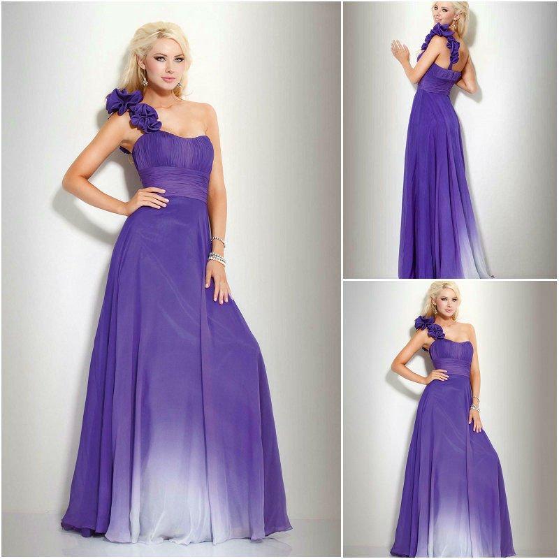 Tienda de ropa G&B E0202_Elegant_one_shoulder_gradient_color_chiffon_deep_purple_evening_dresses