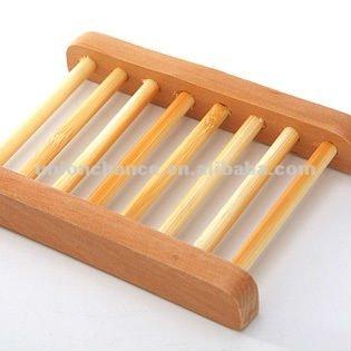 moda de madera plato de jabón