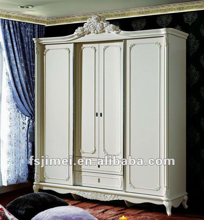 الكلاسيكي الخشب الصلب خزانة باب جرار