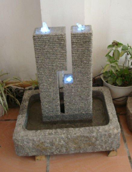 Piedra natural tallada a mano jard n decorativo fuente de piedra fuente en cascada de interior - Fuentes para interior ...