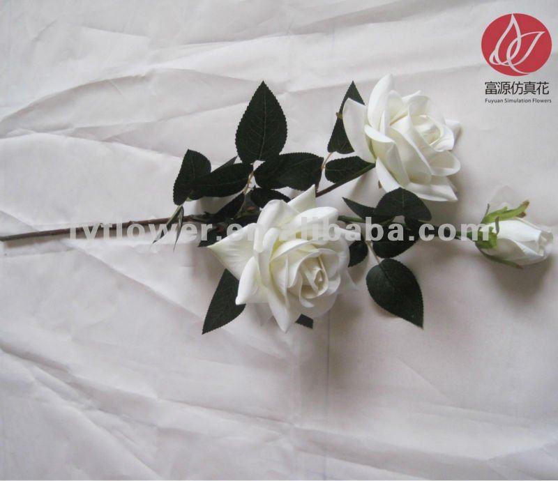 Venta al por mayor barato rosas artificiales rosas blancas for Decoracion hogar al por mayor