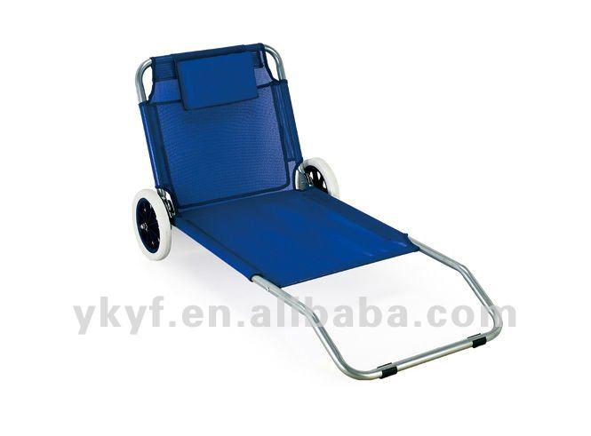 silla de playa plegable con ruedas sin la sombra del sol
