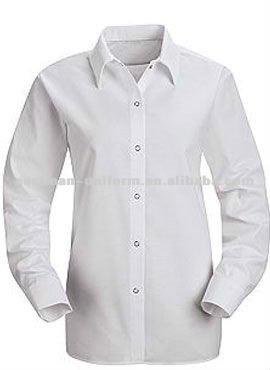 Branco de algod o dos homens camisa de trabalho manga for White cotton work shirts