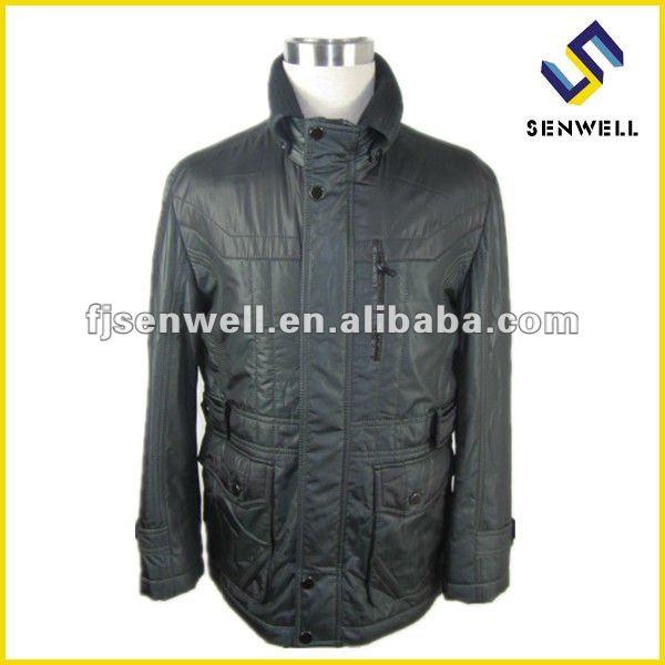 Пуховые куртки из шерстяной ткани
