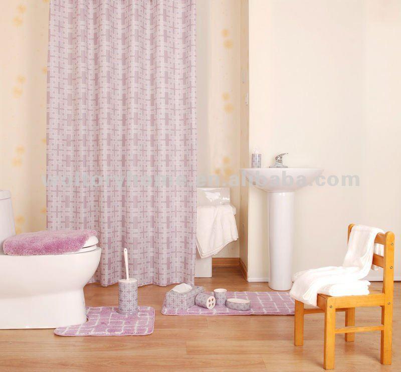 Tenda della doccia creativo set da bagno coordinare tenda - Tenda vasca da bagno ...