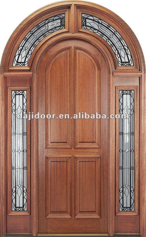Exterior el ltimo dise o de puertas de madera round top for Disenos de puertas en madera y vidrio
