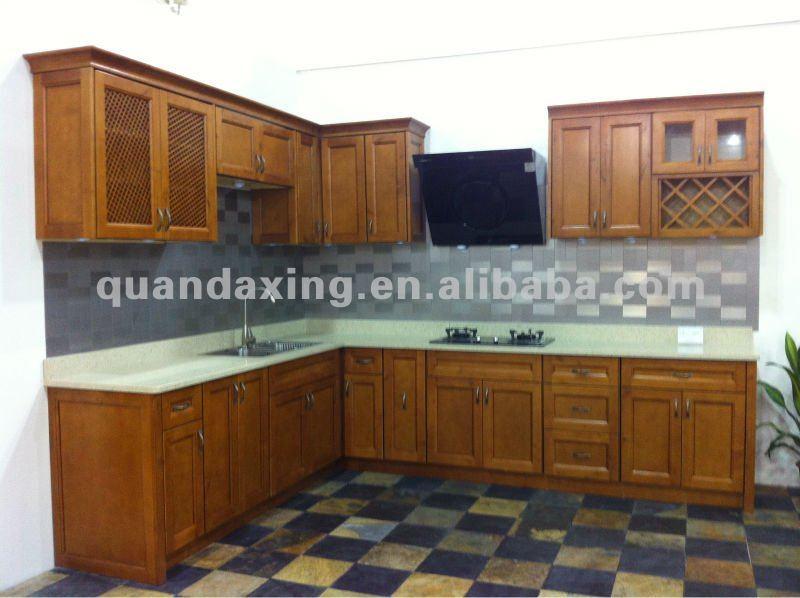 Maple vitrage armoires de cuisine cuisine en bois massif for Armoire de cuisine en bois massif