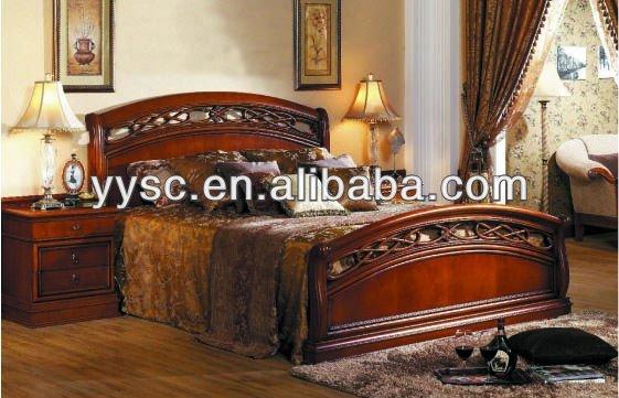 Muebles del dormitorio king size cama de madera camas for Cama quinsay