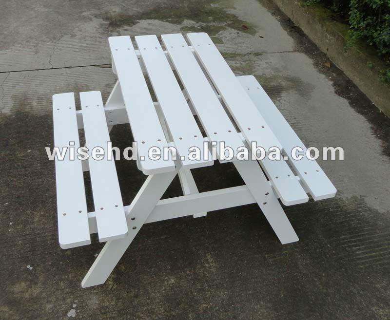 W t 319 en bois blanc table de jardin pour les - Table de jardin enfants ...