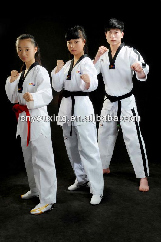 ... uniforme de taekwondo - aprobado wtf/artes marciales uniforme/tkd gi