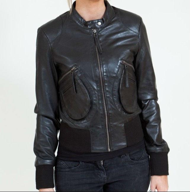 Женская кожаная куртка 2013 осень весна