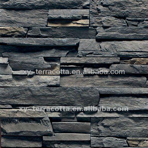 Cuarcita exterior de la pared de piedra artficial piedra - Panel piedra exterior ...