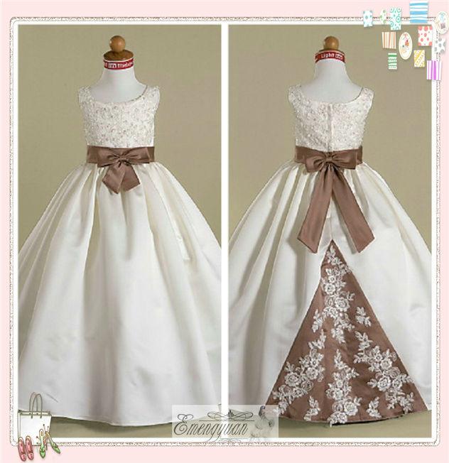 fl05 2012 novo estilo princesinha natural inchado meninas vestidos ...