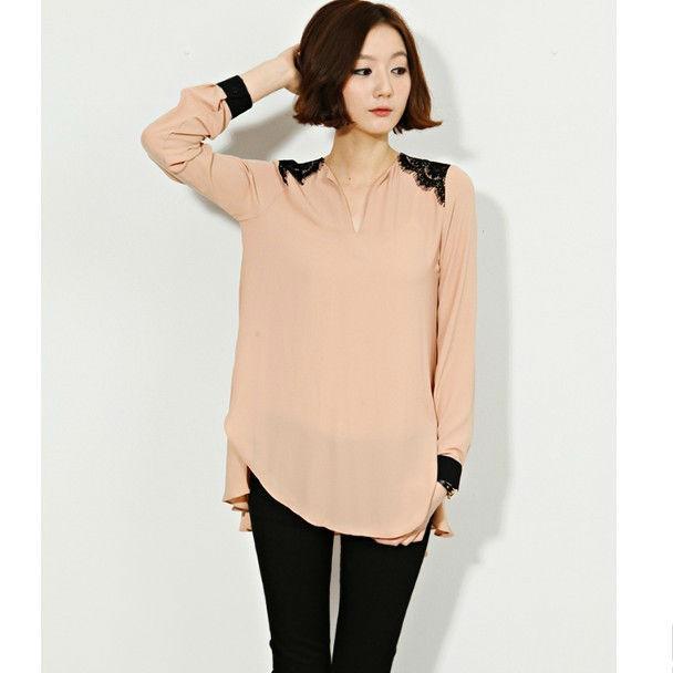blusas para damas elegantes modelos de blusas en chifon-Blusas ...