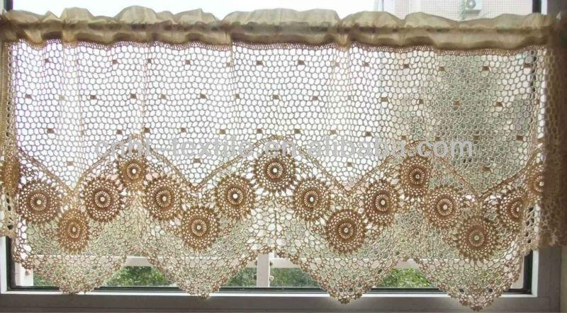 Cortinas De Baño Tejidas Al Crochet:Cortinas Para Cocina a Crochet